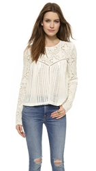 Jet Set Thinking About You Top White