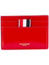 Thom Browne Double Sided Cardholder Red