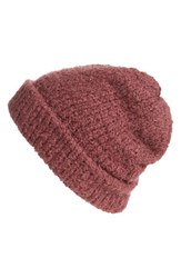 Free People Women's Melt My Heart Boucle Beanie Purple Plum