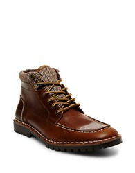 Steve Madden Nickname Leather Boots Cognac