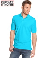 Club Room Big And Tall Performance Uv Protection Men's Polo Shirt Sweetwater
