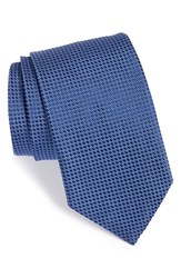 Men's Eton Dot Silk Tie Blue