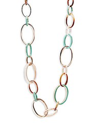 Stella Ruby Long Link Fashion Necklace Gold