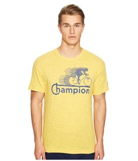 Todd Snyder Champion Cycling Graphic T Shirt Golden Yellow Men's T Shirt
