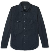 Save Khaki United Cotton Poplin Overshirt Navy