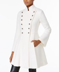 Guess Skirted Double Breasted Military Coat White