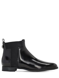 Tod's 20Mm Leather Beatle Ankle Boots Black