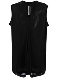 Rick Owens V Neck Top Black