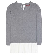 81 Hours Amal Cashmere And Cotton Sweater Grey