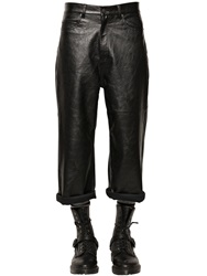 Cheap Monday 15.5Cm Cropped Baggy Faux Leather Pants Black