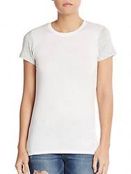 Vince Two Tone Pima Cotton And Modal Tee Off White