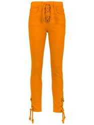 Spacenk Nk Skinny Jeans Yellow And Orange