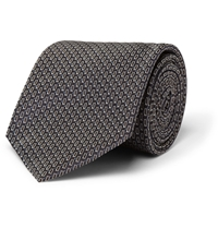 Alfred Dunhill Patterned Mulberry Silk Tie Blue