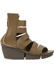 Trippen 'Sign' Wedge Sandals Green