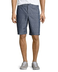 Penguin Palm Tree Poplin Shorts Nightshadow Blue