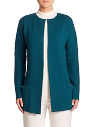 Akris Stretch Cashmere Cardigan Sea Biscuit Moonstone