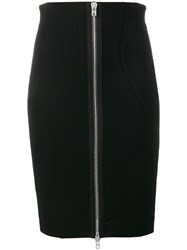 Givenchy Zipped Bodycon Skirt Black