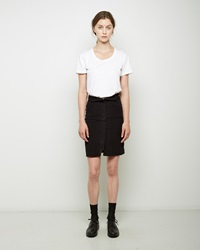 Etoile Isabel Marant Mikhail Corduroy Skirt Faded Black