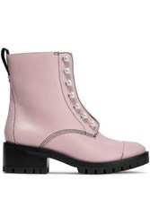 3.1 Phillip Lim Hayett Faux Pearl Embellished Leather Ankle Boots Baby Pink