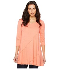 Mod O Doc Heather Jersey 3 4 Sleeve Swing Tunic Tigerlily Women's Long Sleeve Pullover Pink