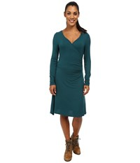 Prana Nadia Long Sleeve Dress Deep Teal Women's Dress Green