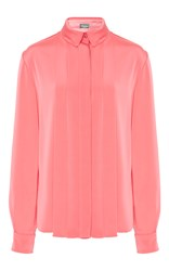 Alexis Mabille Long Sleeve Pleated Shirt Pink