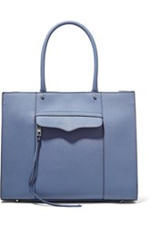 Rebecca Minkoff Mab Studded Textured Leather Tote Blue