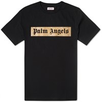 Palm Angels Glitter Logo Tee Black