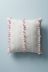 Anthropologie Woven Araya Cushion Light Grey