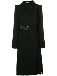 Sportmax Belted Straight Fit Coat Black