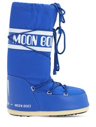 Moon Boot Classic Nylon Waterproof Snow Boots Electric Blue