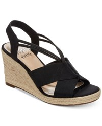 Impo Tegan Espadrille Platform Wedge Sandals Women's Shoes Black