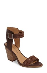 Lucky Brand Women's Oakes Ankle Strap Sandal Toffee Leather