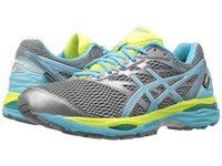 Asics Gel Cumulus 18 Gtx Aluminum Aquarium Neon Lime Women's Running Shoes Gray