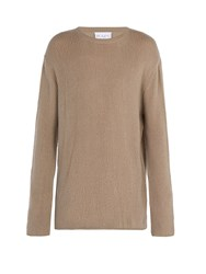 Raey Open Knit Summer Cashmere Sweater Grey
