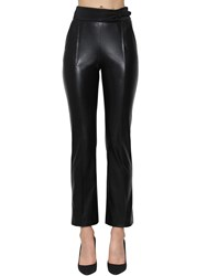 Ermanno Scervino Faux Leather High Waist Skinny Pants Black