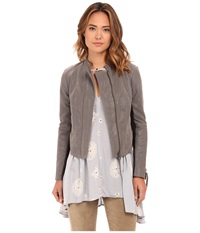 Free People Clean Vegan Jacket Steel Mill Grey Women's Coat Gray