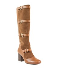 Shellys London Amersham Knee High Multi Buckle Boots Brown