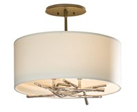 Hubbardton Forge Brindille Ceiling Light Brown