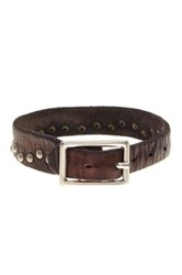 Tommy Bahama Wide Rivet Leather Bracelet Brown