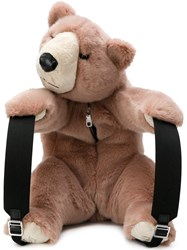 Dolce And Gabbana Orso Faux Fur Backpack Nude And Neutrals