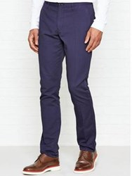 Reiss Buster Slub Casual Trousers Navy