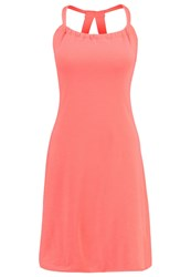 Prana Quinn Jersey Dress Summer Peach Coral