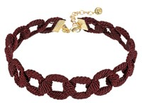 Vanessa Mooney Red Wine Choker Necklace Maroon Necklace