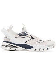 Calvin Klein 205W39nyc White And Navy Blue Carlos 10 Mesh And Leather