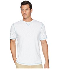 True Grit Heritage Slub Classic Fit Pigment Dyed Short Sleeve Knit Crew With Contrast Coverstitch White T Shirt