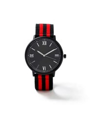 Topman Red Black Fabric Watch