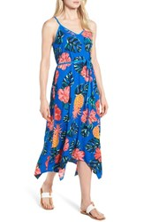 Tommy Bahama Pina Cool Ada Midi Slipdress Cobalt Sea