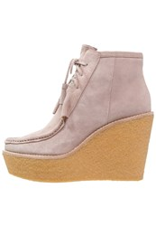 Derek Lam 10 Crosby Sorelle Wedge Boots Lilac Taupe