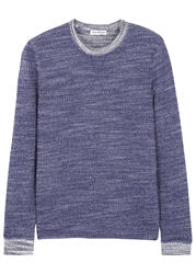 Oliver Spencer Highgrove Navy Cotton Blend Sweatshirt